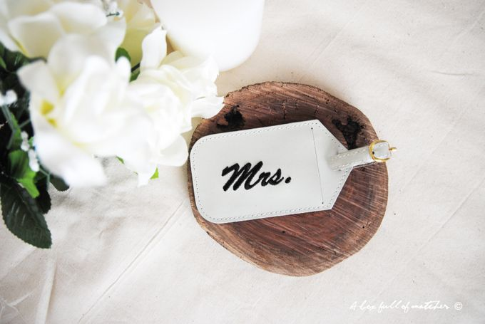 Mr & Mrs Luggage Tag and Passport Cover by A Box Full of Matches - 009