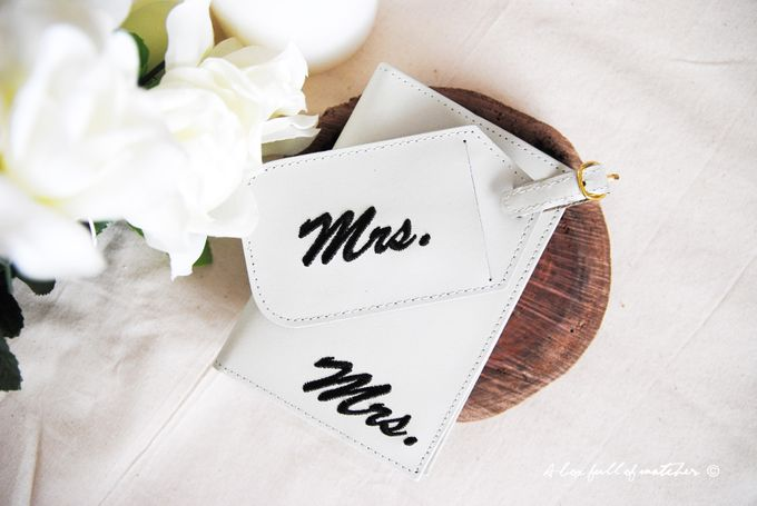 Mr & Mrs Luggage Tag and Passport Cover by A Box Full of Matches - 001