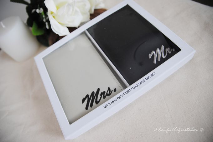 Mr & Mrs Luggage Tag and Passport Cover by A Box Full of Matches - 011