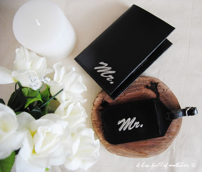 Mr & Mrs Luggage Tag and Passport Cover by A Box Full of Matches - 002