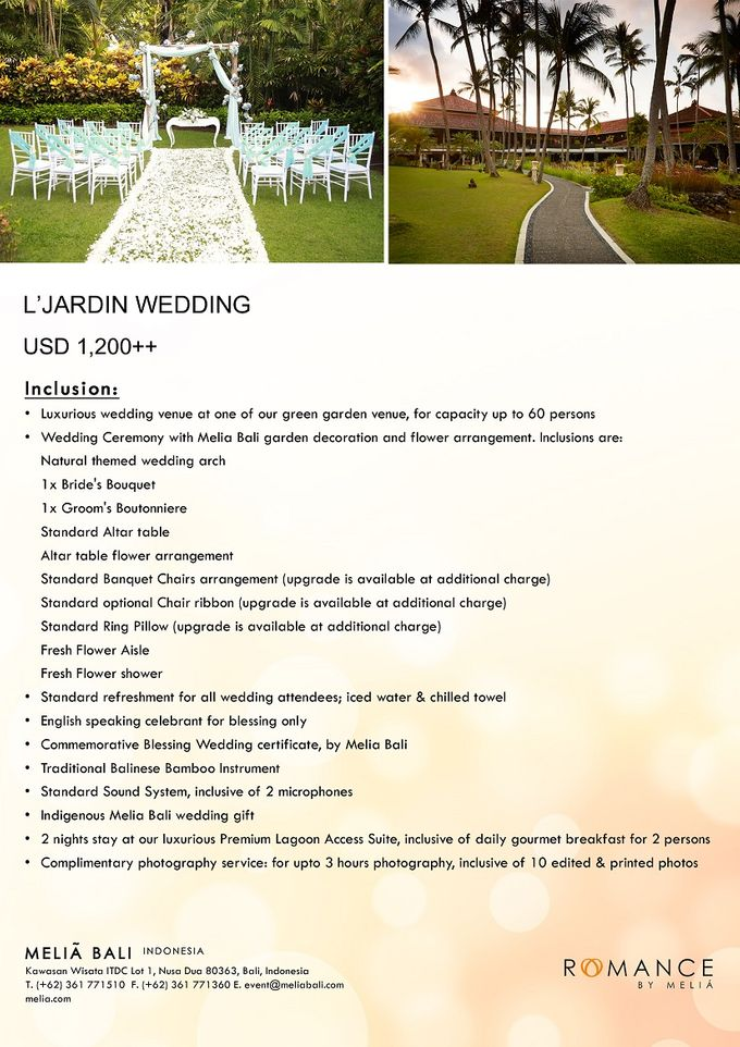 New Wedding Package by Meliá Bali Indonesia - 002