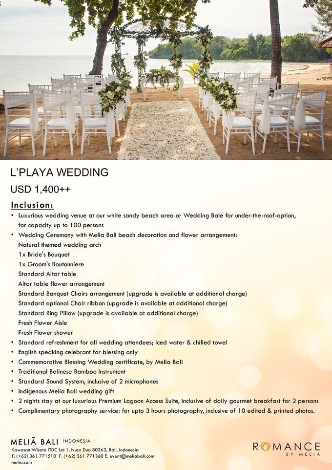 New Wedding Package by Meliá Bali Indonesia - 003