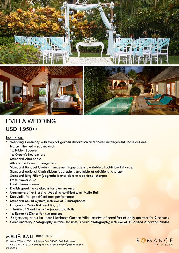 New Wedding Package by Meliá Bali Indonesia - 004