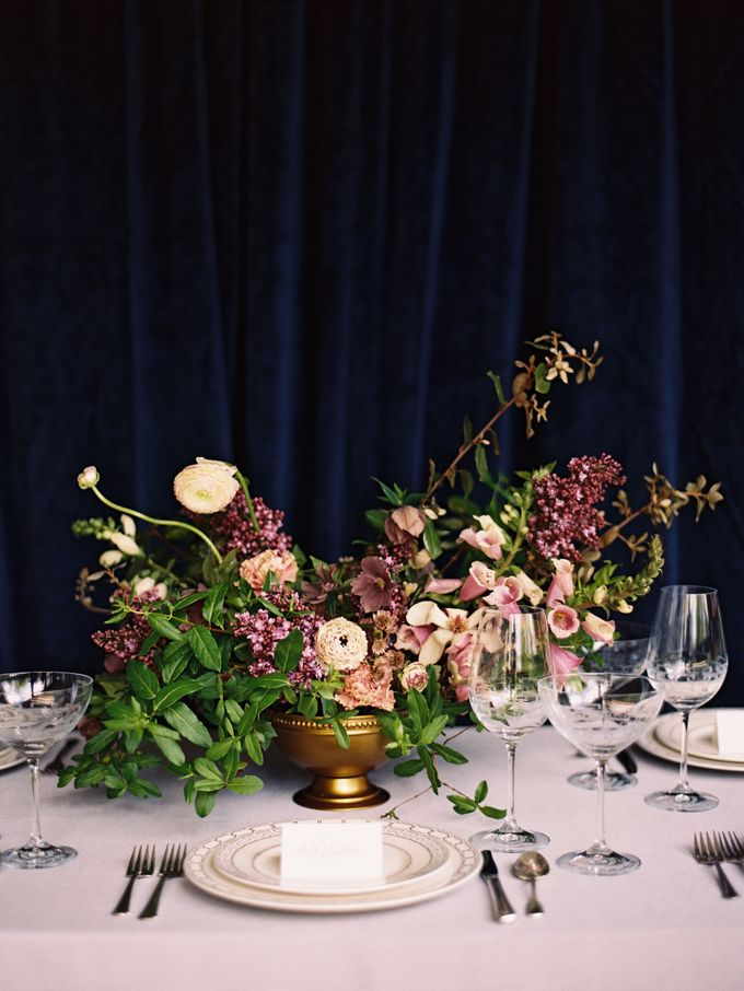 Jewel-Toned Centrepieces by Stone House Creative - 002