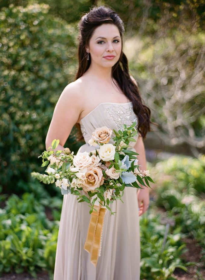 Garden-Inspired Wedding Bouquet by Stone House Creative - 007