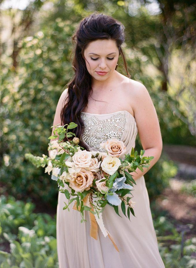 Garden-Inspired Wedding Bouquet by Stone House Creative - 001