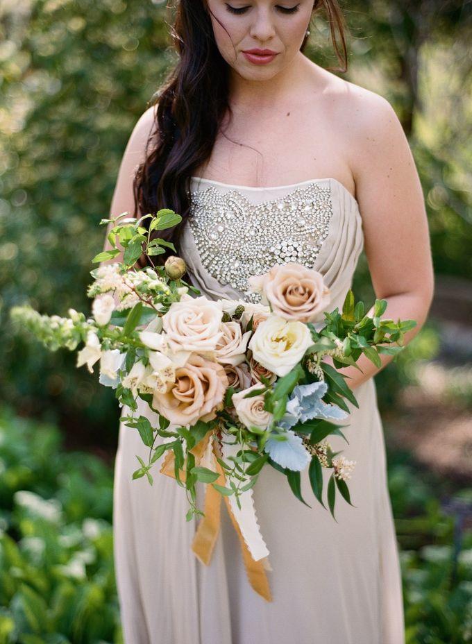 Garden-Inspired Wedding Bouquet by Stone House Creative - 004