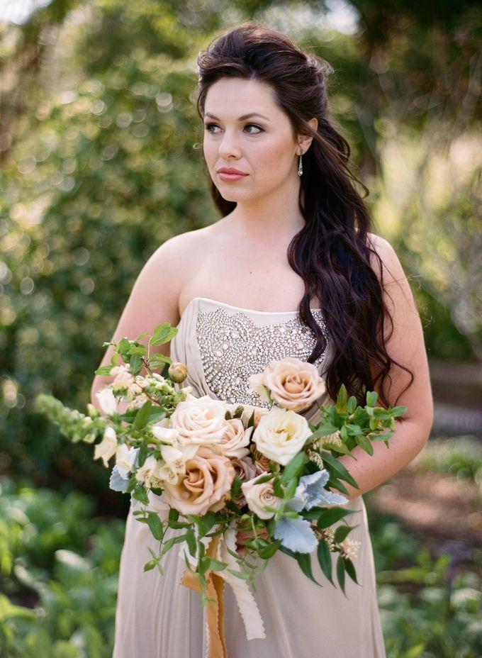 Garden-Inspired Wedding Bouquet by Stone House Creative - 005