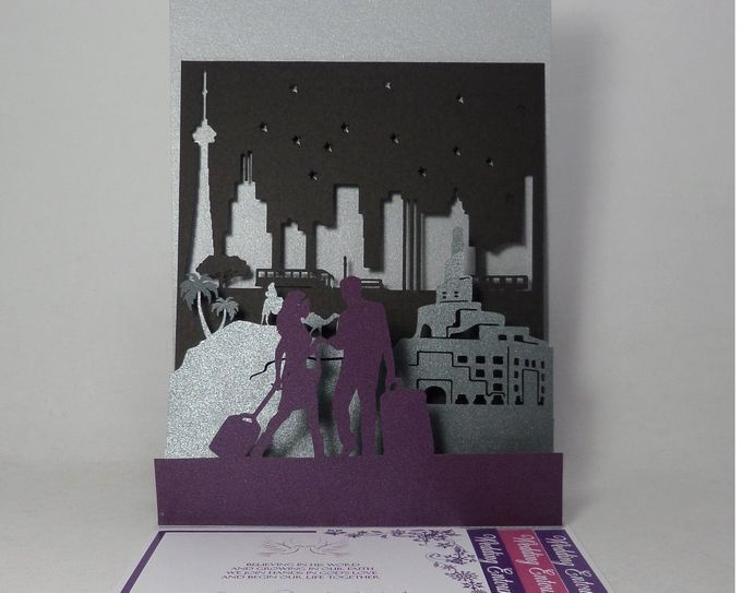 Layered Silhouette Pop Up Invitation by Pop Up Occasions - 001