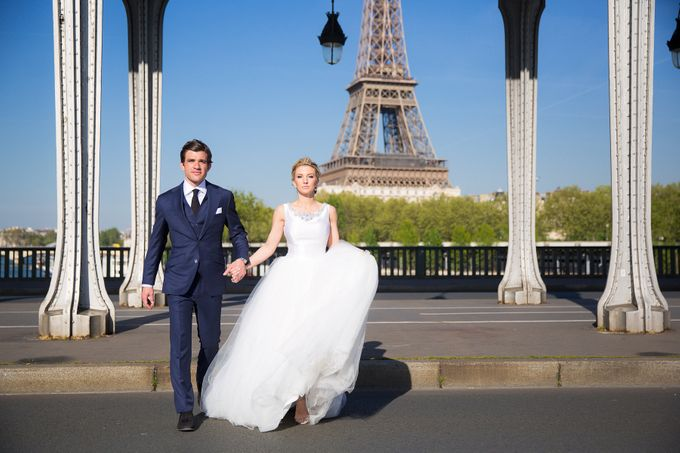 Real Wedding of Bridget & Brian by Luxe Paris Events - 017