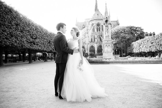 Real Wedding of Bridget & Brian by Luxe Paris Events - 021