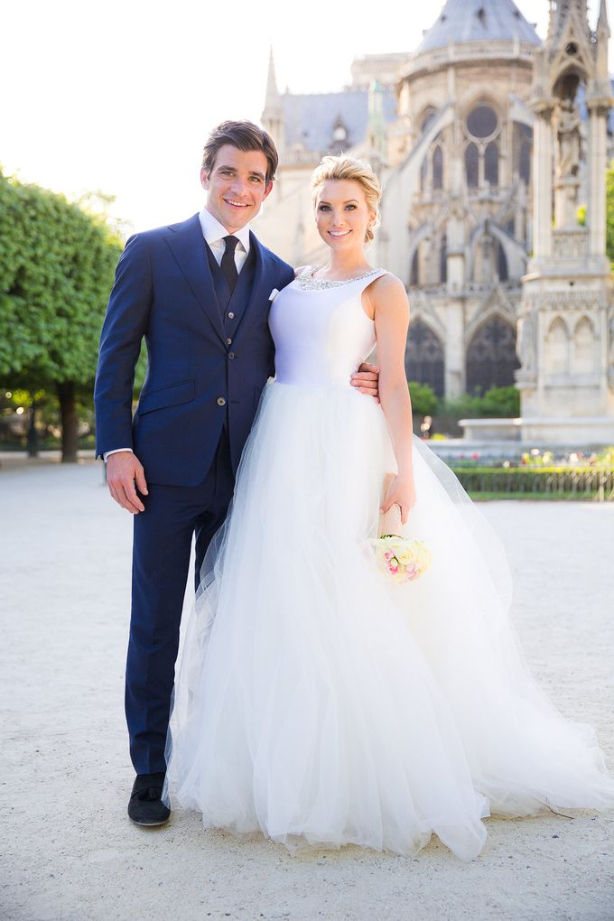 Real Wedding of Bridget & Brian by Luxe Paris Events - 022