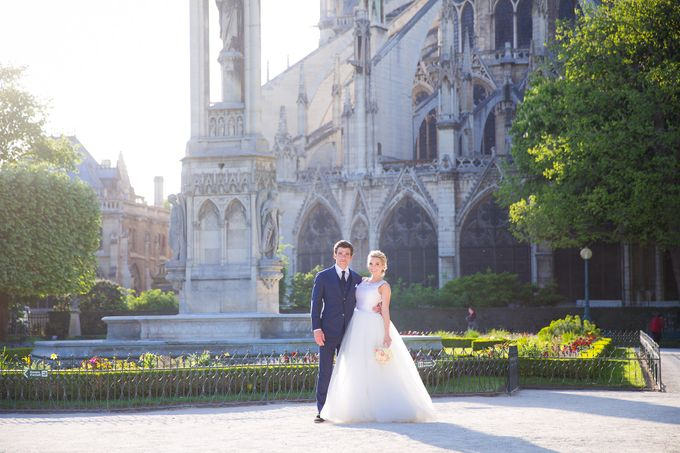 Real Wedding of Bridget & Brian by Luxe Paris Events - 023