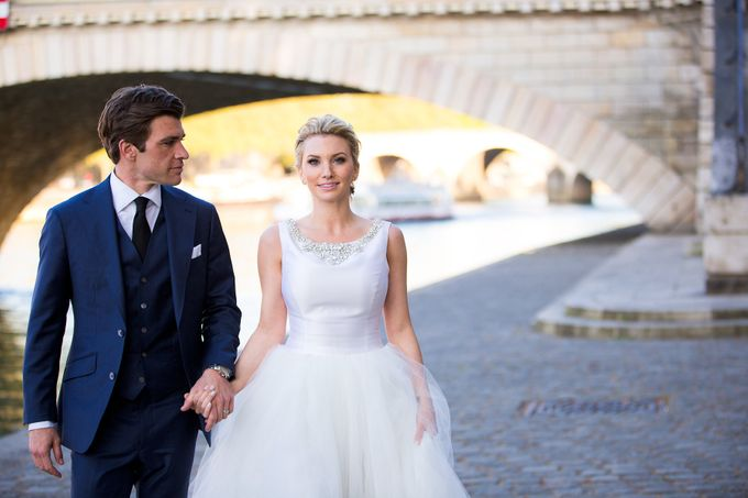 Real Wedding of Bridget & Brian by Luxe Paris Events - 033