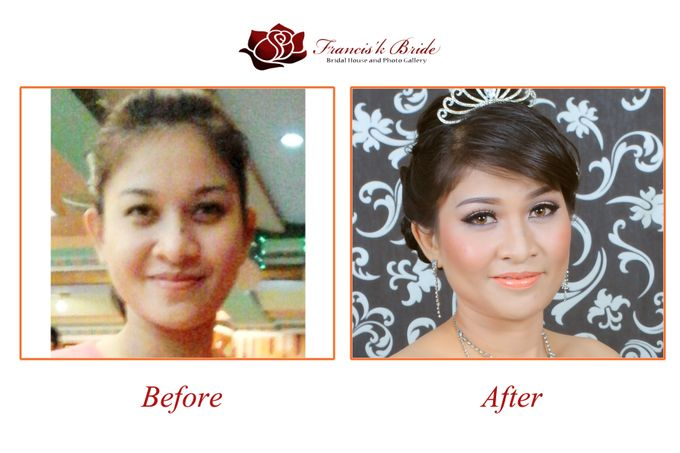 Before - After Make Up by Francis'k Bride - 009