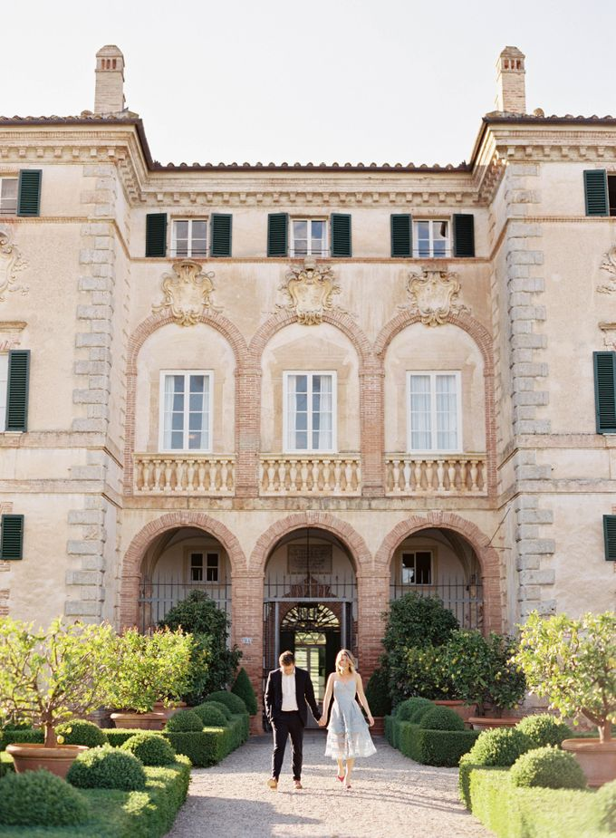 Srping Villa Cetinale Engagement Shoot by Jen Huang Photo - 004