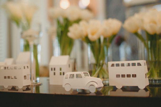 A White London Wedding by C. C. Lee Designs - 004