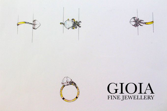 Moonstone Ribbon Ring by GIOIA FINE JEWELLERY - 001