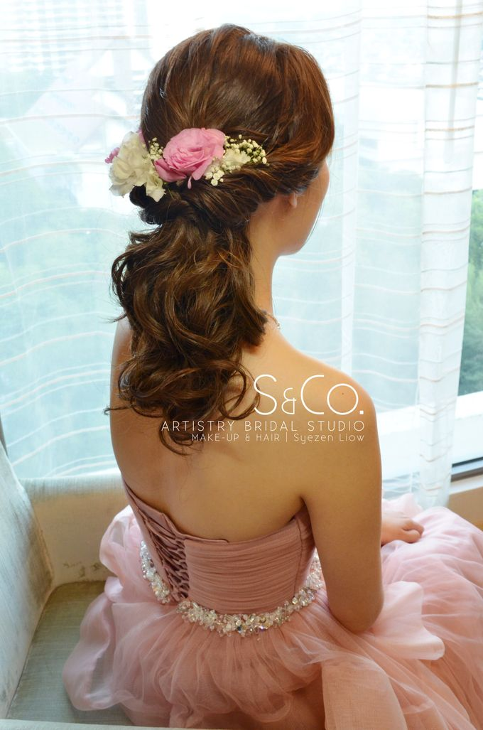 Bridal Hair Style by S & Co. Artistry Bridal Makeup Studio - 002