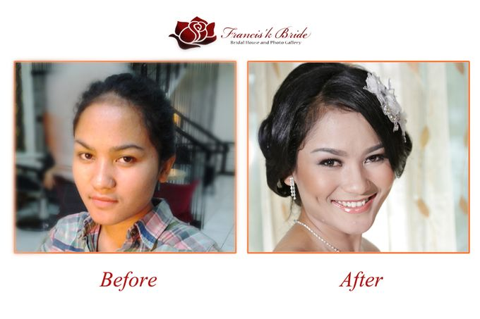Before - After Make Up by Francis'k Bride - 010
