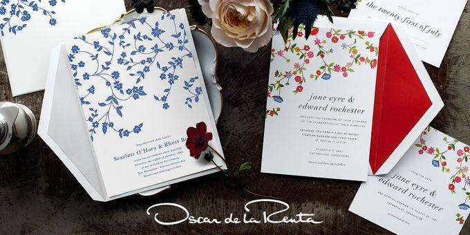 Oscar de la Renta wedding invitation by Paperless Post - 001