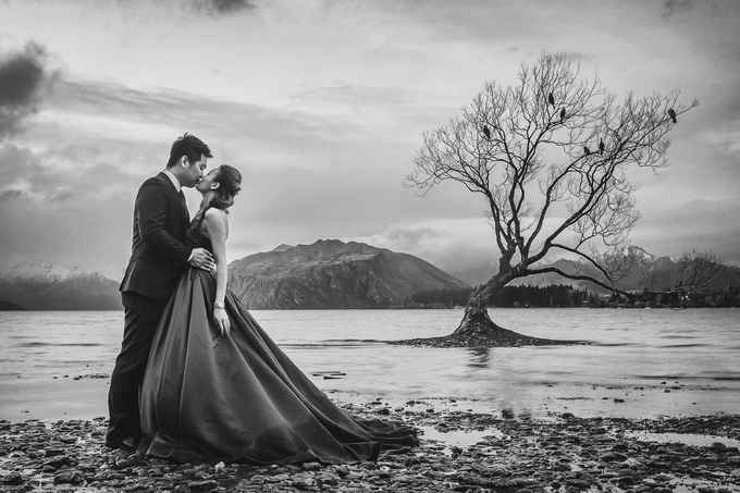 New Zealand pre wedding photography by Odelia Bridal - 025