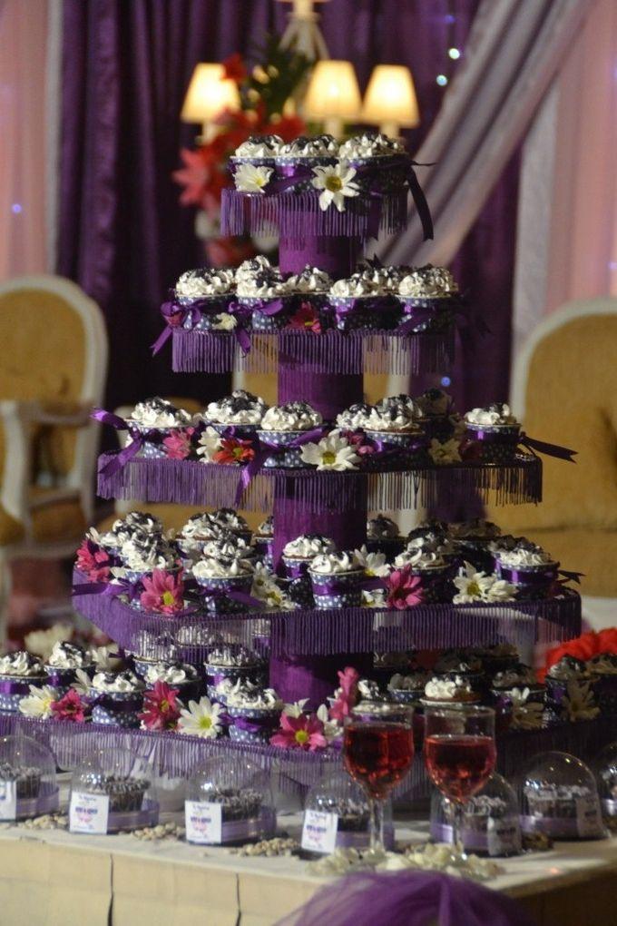 Purple Wedding Cupcakes by Diana's Kitchen - 001