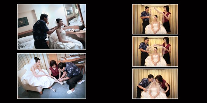 Wedding day of Shawn & Tanty by Shangri-La Hotel Singapore - 003