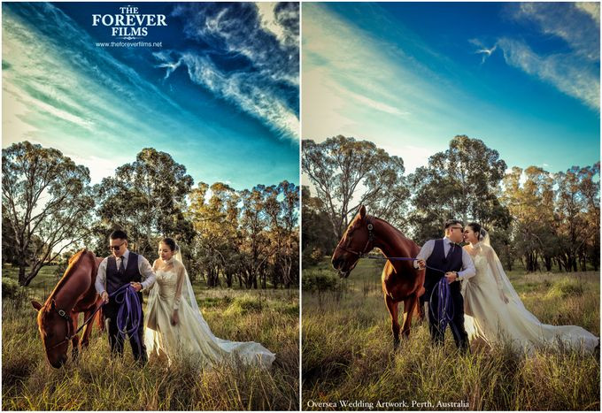 Oversea Wedding Artwork - Perth Australia by The Forever Films - 009