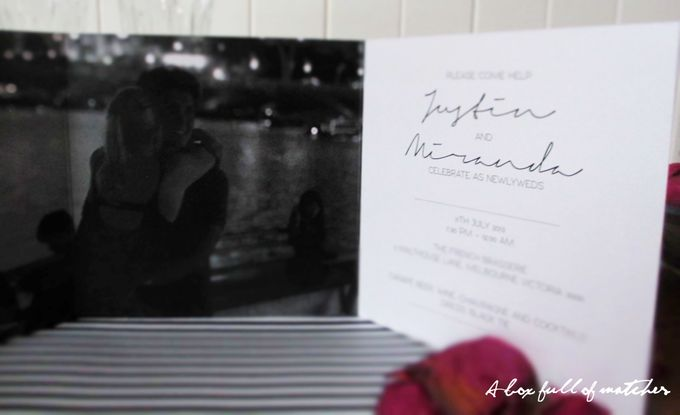 Wedding Invitations Custom Designed - Photographic by A Box Full of Matches - 008