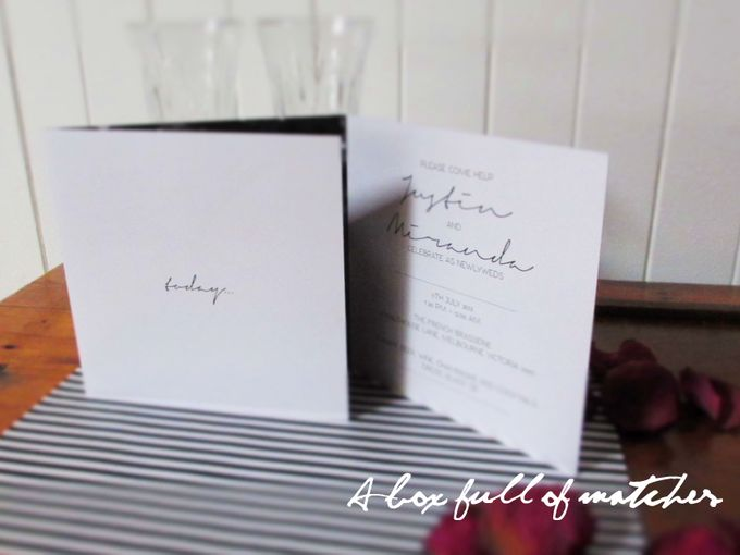 Wedding Invitations Custom Designed - Photographic by A Box Full of Matches - 004