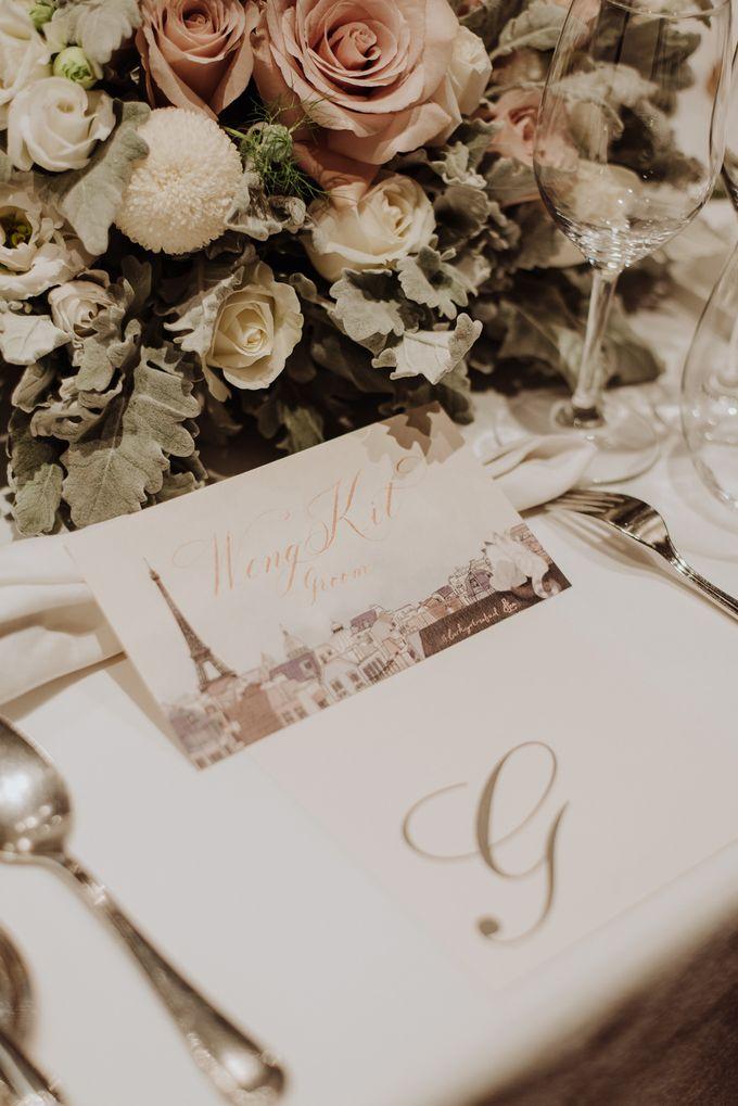Solemnization / Reception Table / Wedding Venue Decoration by Petite Fleur SG - 036