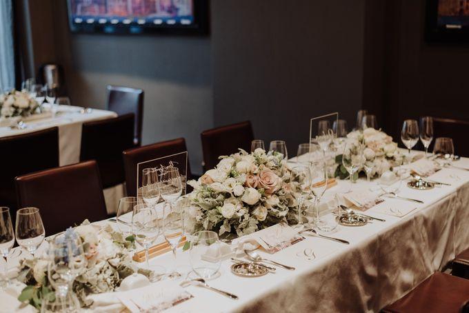 Solemnization / Reception Table / Wedding Venue Decoration by Petite Fleur SG - 034