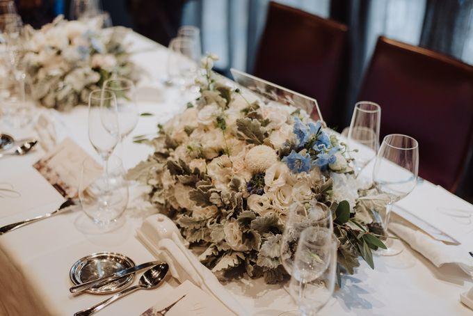 Solemnization / Reception Table / Wedding Venue Decoration by Petite Fleur SG - 035