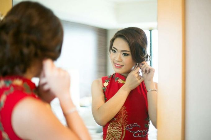 Actual Wedding Day of Sylvie & Kenneth by Lili Makeup Specialist - 002