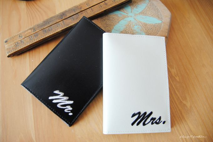 Mr & Mrs Luggage Tag and Passport Cover by A Box Full of Matches - 010
