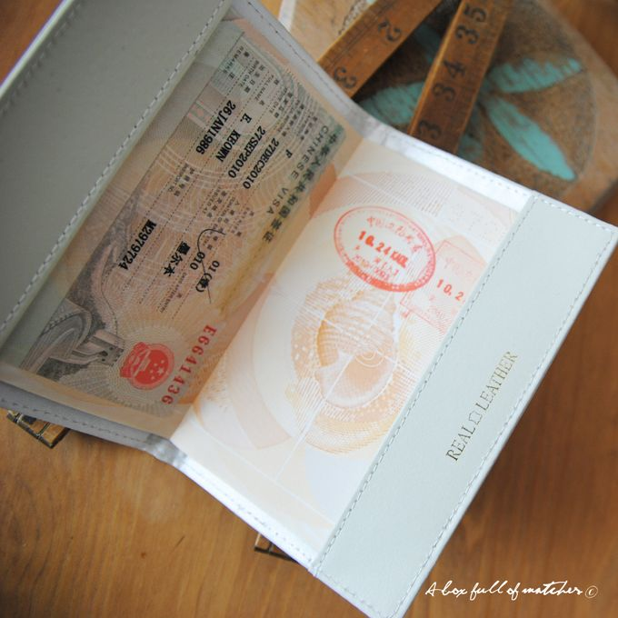 Mr & Mrs Luggage Tag and Passport Cover by A Box Full of Matches - 012