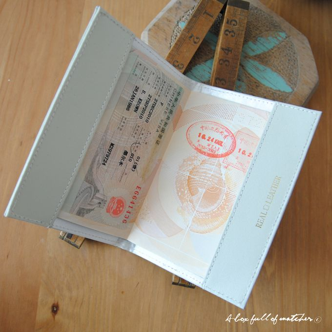 Mr & Mrs Luggage Tag and Passport Cover by A Box Full of Matches - 014