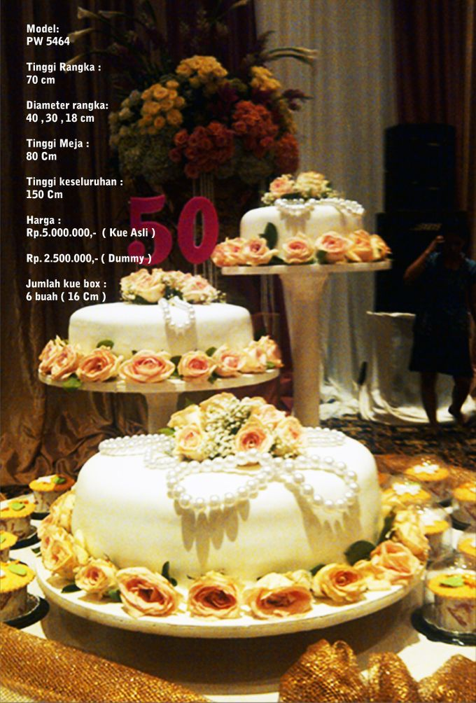 Wedding Cake 3 Tiers by Pelangi Cake - 004