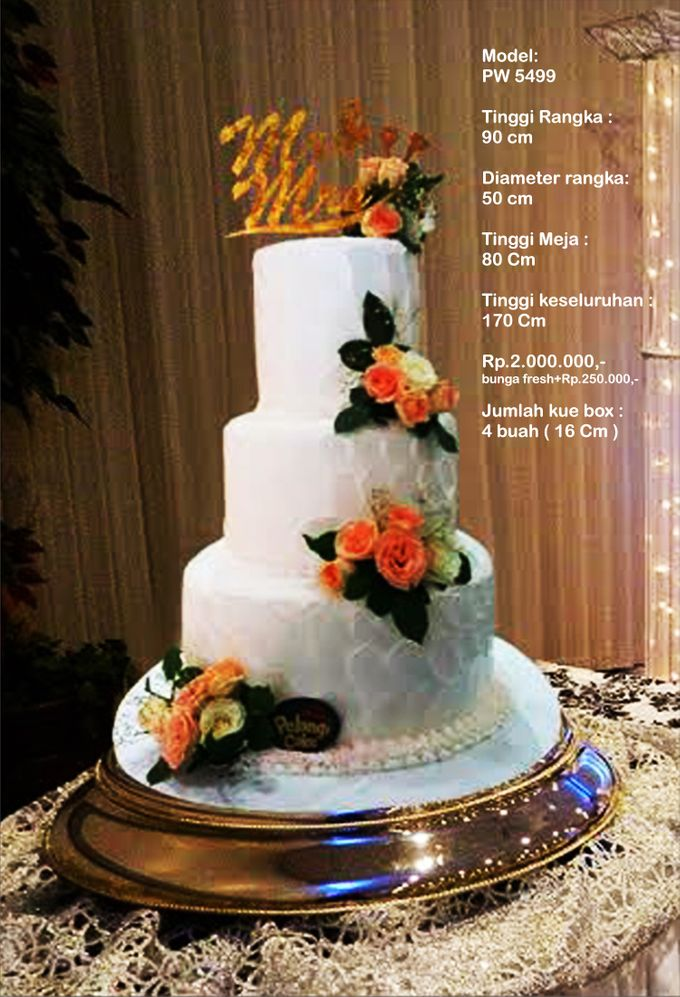 Wedding Cake 3 Tiers by Pelangi Cake - 002