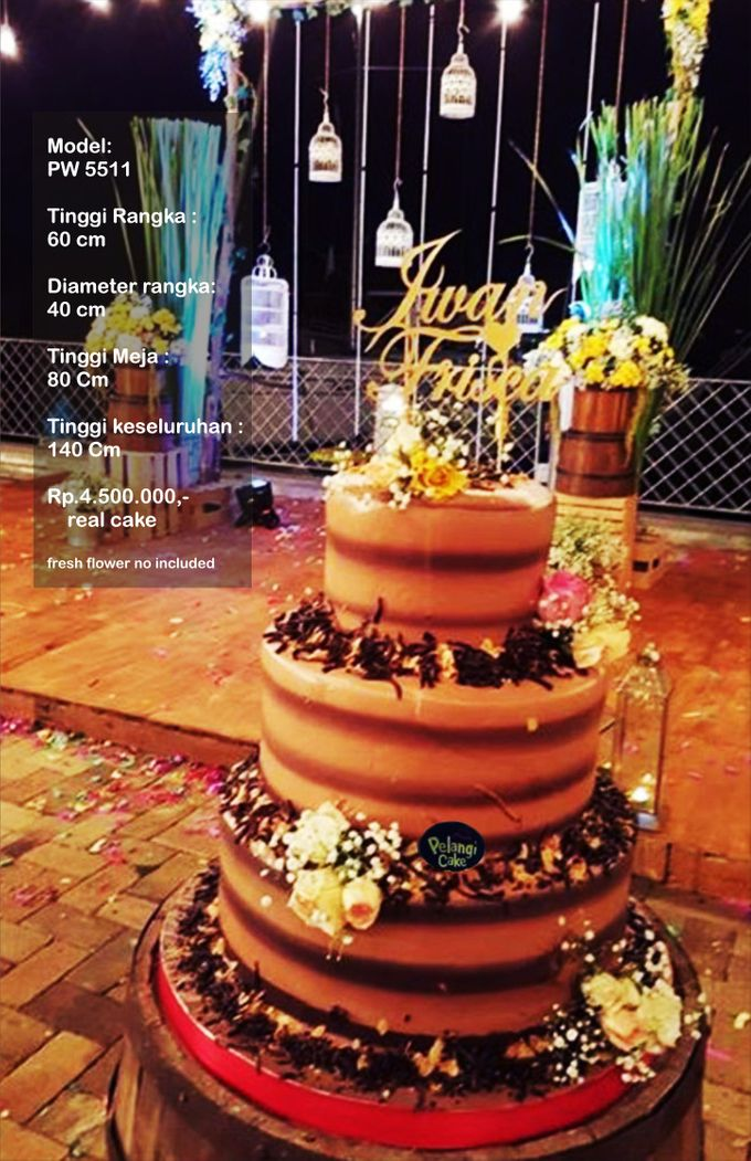 Wedding Cake 3 Tiers by Pelangi Cake - 001