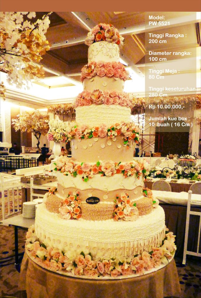 wedding cake 7 tiers by Pelangi Cake - 004