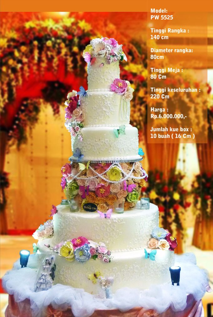 Wedding Cake 5 Tiers By Pelangi Cake Bridestorycom - Harga Dummy Wedding Cake