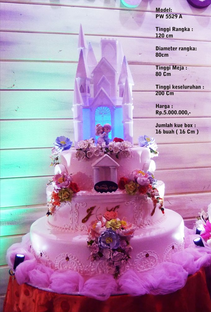 Wedding Cake 3 Tiers by Pelangi Cake - 008