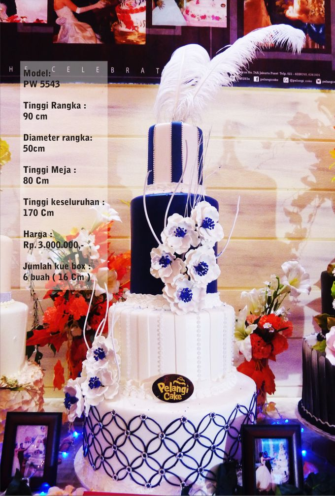 Wedding Cake 3 Tiers by Pelangi Cake - 009