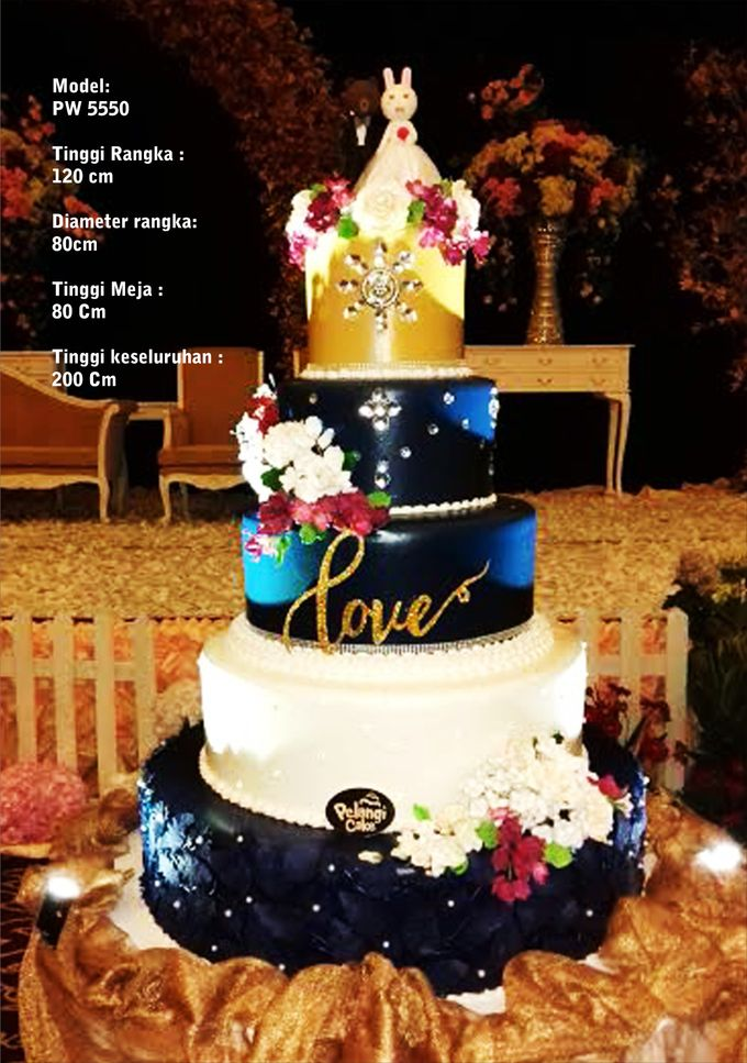 wedding cake by Pelangi Cake - 010