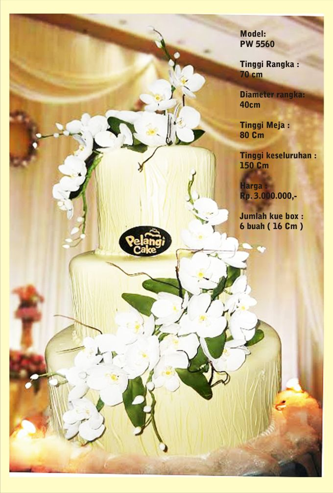 Wedding Cake 3 Tiers by Pelangi Cake - 011