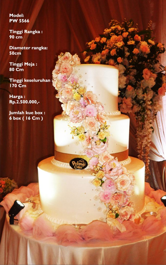 Wedding Cake 3 Tiers by Pelangi Cake - 012