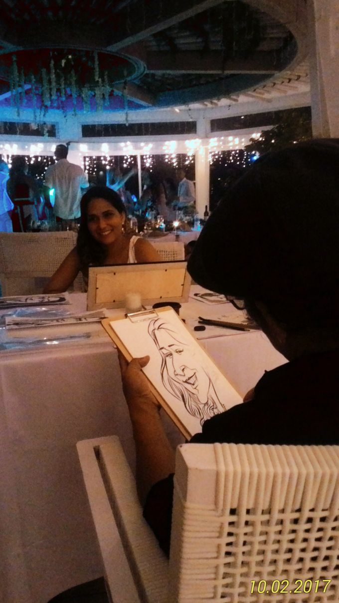 CARICATURE ART  CAN ENTERTAIN UNIQUE GIFT FOR WEDDING GUESTS by Bali Karikatur - 002