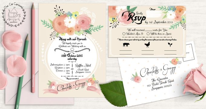 Painterly Floral Wedding Kit by The Cat Carousel - 003
